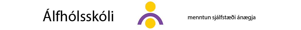 Álfhólsskóli Logo